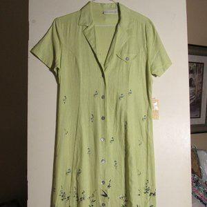 Jane Ashley Linen Dress. Ankle length